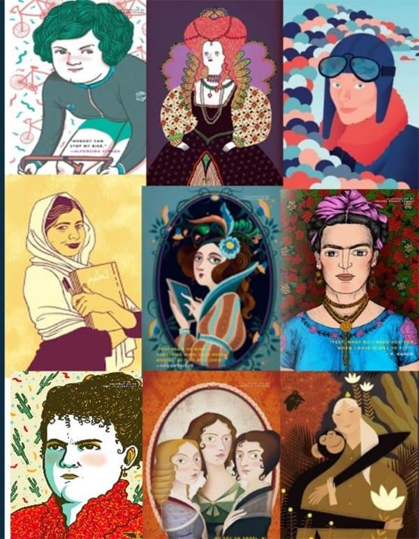 ilustraciones de bunas noches para niñas rebeldes